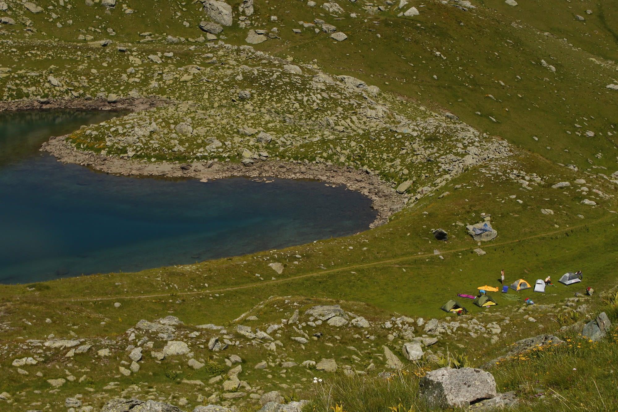 Лагерът ни под връх Джеравица.