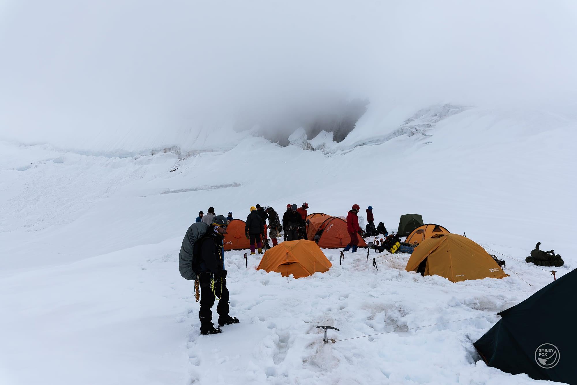Лагер Берьозко седло - 3600 м.